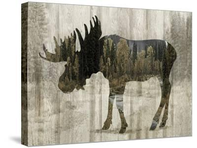 Camouflage Animals - Moose-Tania Bello-Stretched Canvas Print