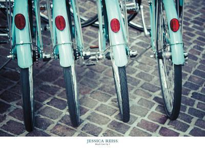 Bicycle Line Up 1-Jessica Reiss-Framed Art Print
