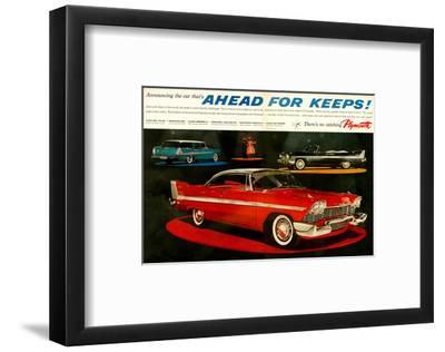 Plymouth - Ahead for Keeps!--Framed Art Print