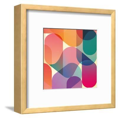 Orange Pink Blue Blend Abstract--Framed Art Print