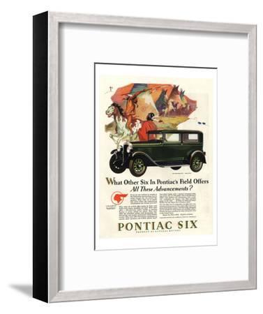 Pontiac-All These Advancements--Framed Art Print