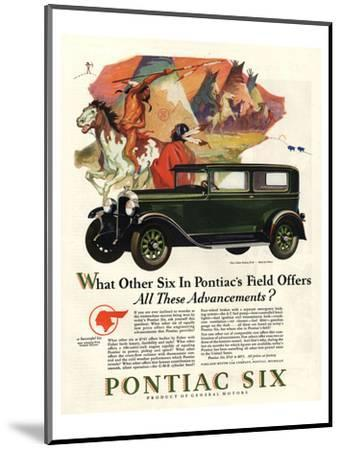 Pontiac-All These Advancements--Mounted Art Print