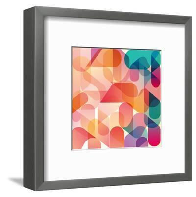 Transparent Orange Pink Blue--Framed Art Print