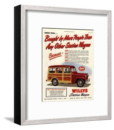 Willys Station Wagon Since1946--Framed Art Print