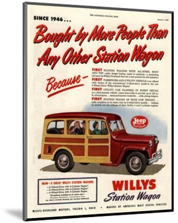 Willys Station Wagon Since1946--Mounted Art Print