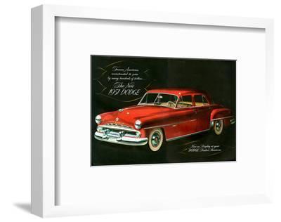 The New 1951 Dodge--Framed Art Print