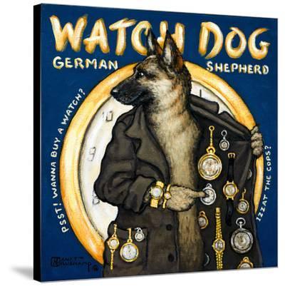 Watch Dog-Janet Kruskamp-Stretched Canvas Print