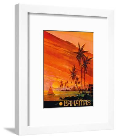 Bahamas - National Airlines--Framed Art Print