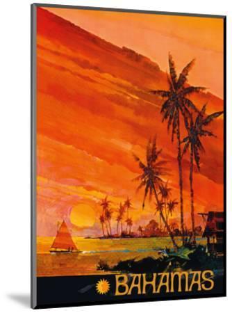 Bahamas - National Airlines--Mounted Art Print