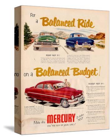 1951 Mercury - Balanced Ride--Stretched Canvas Print