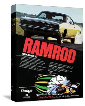 1968 Dodge Charger Ramrod--Stretched Canvas Print
