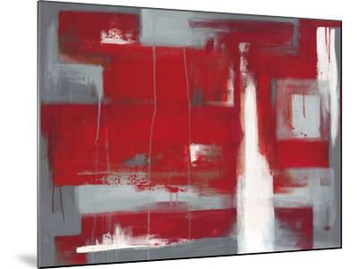 Red Abstract-Leigh Banks-Mounted Giclee Print