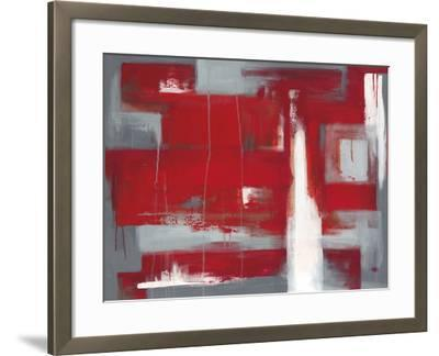Red Abstract-Leigh Banks-Framed Giclee Print