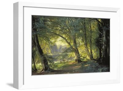 The Deer Park-Carl Frederic Aagaard-Framed Giclee Print