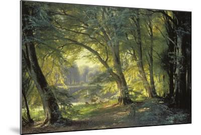 The Deer Park-Carl Frederic Aagaard-Mounted Giclee Print