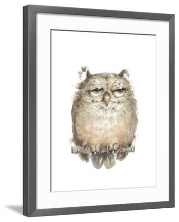 Owl VII-Judy Rossouw-Framed Giclee Print