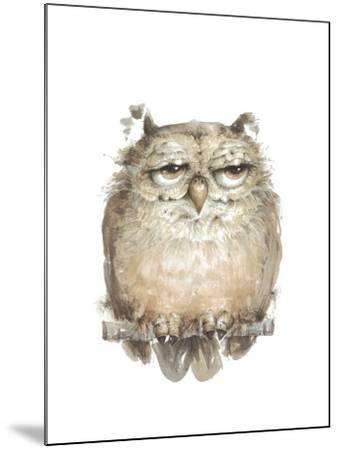 Owl VII-Judy Rossouw-Mounted Giclee Print