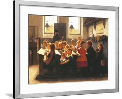 When Teacher's Back Is Turned-Jacob Taanmann-Framed Giclee Print