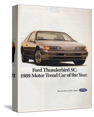 1989Thunderbird Car of the Year--Stretched Canvas Print