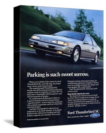 1990 Thunderbird Sweet Sorrow--Stretched Canvas Print