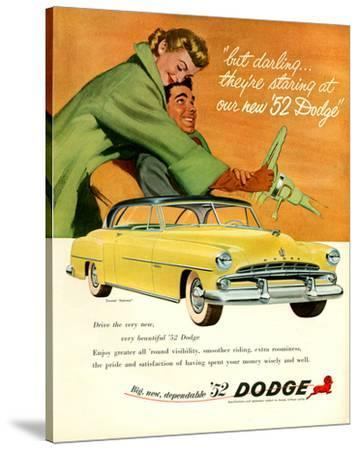 Big New Dependable 52 Dodge--Stretched Canvas Print
