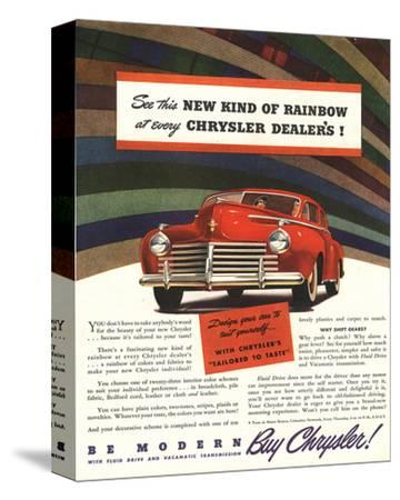 Chrysler Rainbow Ad--Stretched Canvas Print