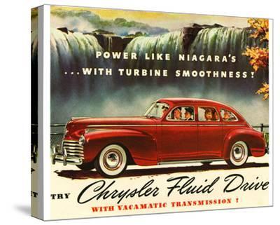Chrysler Fluid Drive - Niagara--Stretched Canvas Print