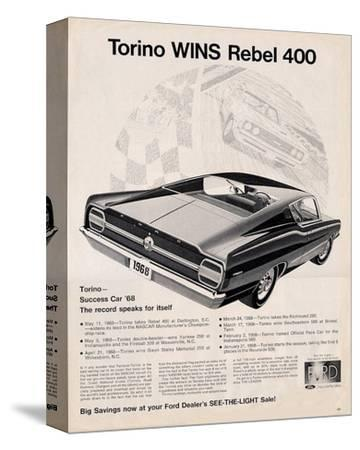 Ford 1968 Torino Wins Rebel400--Stretched Canvas Print