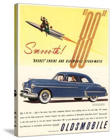 GM Oldsmobile - Rocket Engine--Stretched Canvas Print
