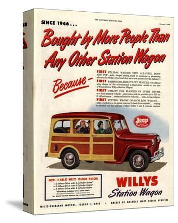 Willys Station Wagon Since1946--Stretched Canvas Print