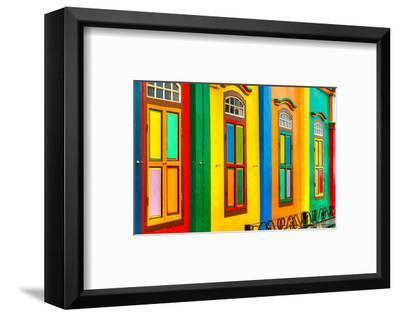 Facade Little India Singapore--Framed Art Print