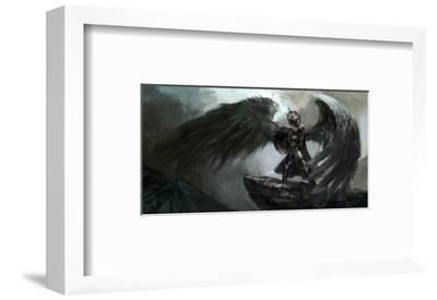 Dead Knight Or Fallen Angel--Framed Art Print