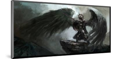 Dead Knight Or Fallen Angel--Mounted Art Print