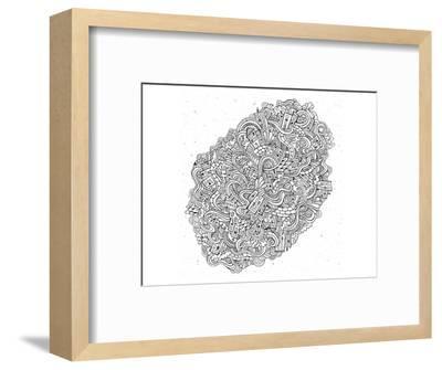 City Cartoon Doodles--Framed Art Print