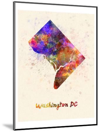 Washington Dc Splatter Skyline--Mounted Art Print