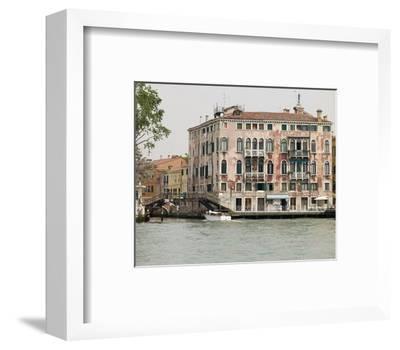 Venice Houses By Canal Italy--Framed Art Print