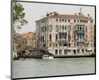 Venice Houses By Canal Italy--Mounted Art Print