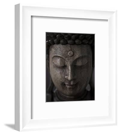 Buddha Sculpture Face--Framed Art Print