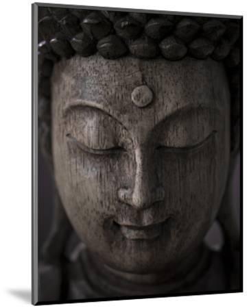 Buddha Sculpture Face--Mounted Art Print