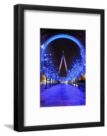 London Eye at Christmas--Framed Art Print