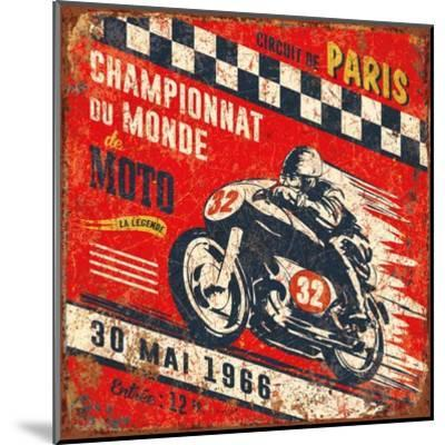 Championnat monde 1966-Bruno Pozzo-Mounted Art Print