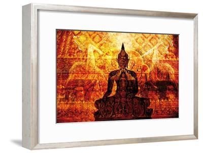 Temple with Akar Yoga-Daniel Stanford-Framed Art Print