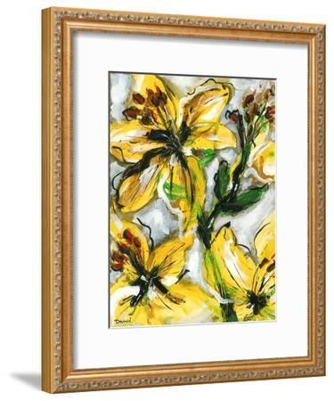 Étude Fleurs I-Pierre David-Framed Art Print