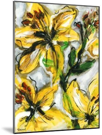Étude Fleurs I-Pierre David-Mounted Art Print