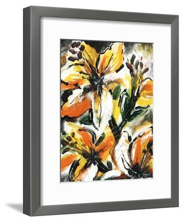 Étude Fleurs II-Pierre David-Framed Art Print