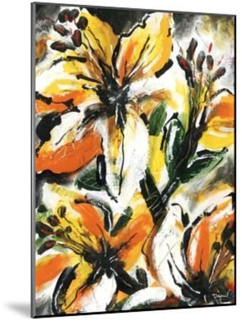 Étude Fleurs II-Pierre David-Mounted Art Print