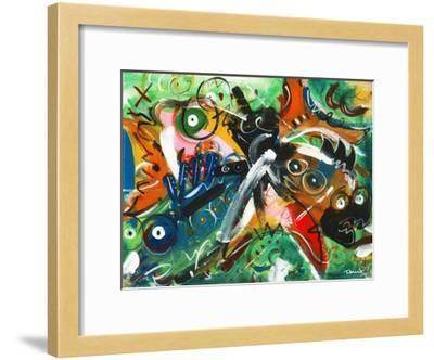 Poissons musiciens-Pierre David-Framed Art Print