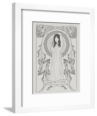 Reine Des Cygnes Grey-Florent Bodart-Framed Art Print