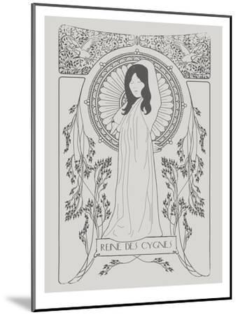 Reine Des Cygnes Grey-Florent Bodart-Mounted Art Print