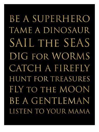 Be A Superhero Golden Black-Amy Brinkman-Framed Art Print